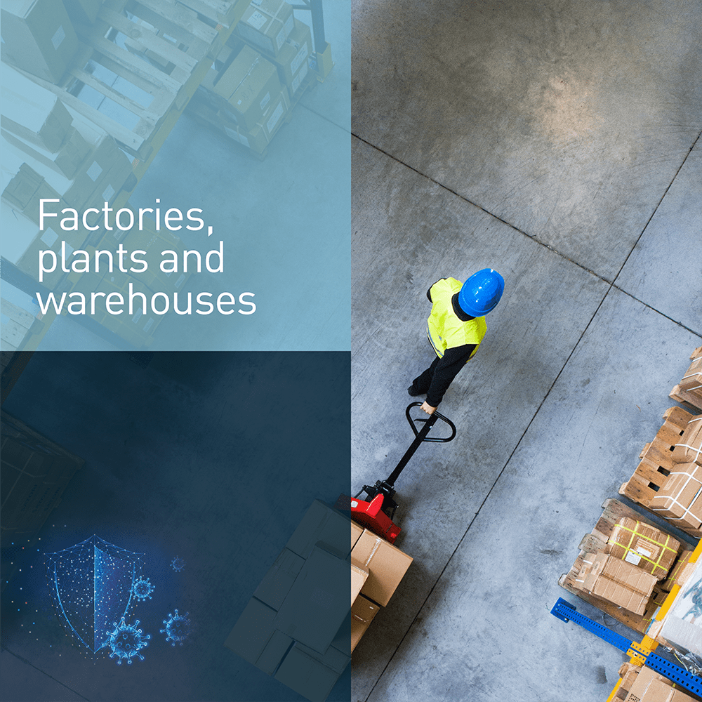 Factories, plants and warehouses